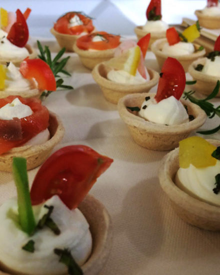 Canapés at The Lodge near Dereham.