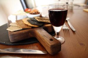 Cheers and wine board.