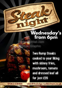 Steak grill night at The Lodge.