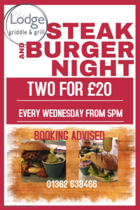 Steak and Burger Night every Wednesday.
